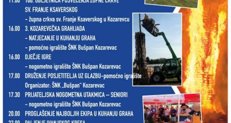 Program proslave Ivanja u Kozarevcu