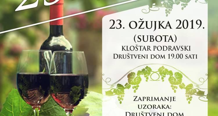 NAJAVA  25. Izložba vina u Kloštru Podravskom